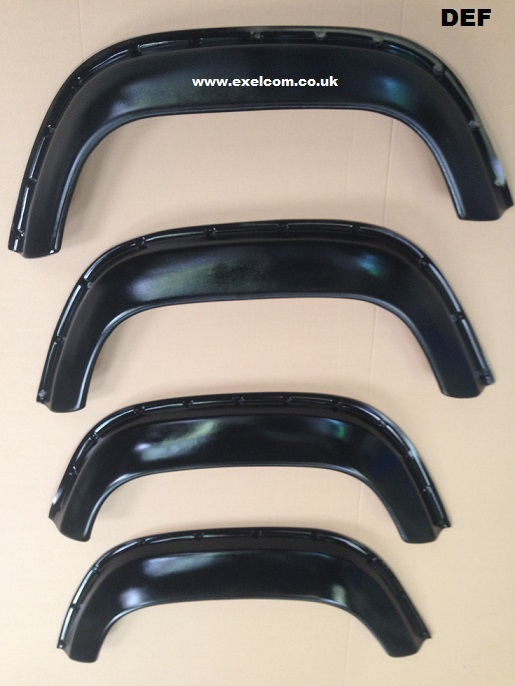 Land Rover Defender 90,110,130 extended wheel arch set of 4